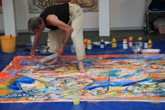 Daniel Fillod maler i Borup Kulturhus ved den dansk/franske kunst- og kulturuge , 2010.
