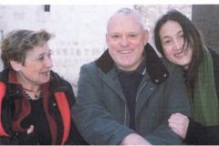 """3 sydfranske kunstnere: Francoise Bravo, Gui Lessin og Yun Duan, som udstillede """"Globale indtryk"""" i marts 2009"""