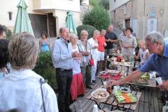 Borgmesteren i Saint Jeannet takker for samarbejdet og siger farvel ved dansk/fransk kunst- og kulturuge i Provence 2011