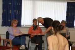 Croquisfestival 2009. Underviser Gunnar Nielsen, elever og model.