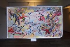 Guy Lessin-maleri, som han har doneret til Skovbo Kunstforening, marts 2009