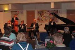 Fernisering på akvareller af Erik Sievert - Kulturnatten 28.8.2009 - Jensens Jazz Serenaders