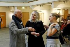 Galleriejer Christoffersen sammen med kunstnerne Anna Sørensen og Astrid Marie Christiansen, febr. 2015