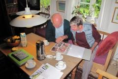 Henning Elving og Daniel Fillod på besøg i Slimminge, juni 2012
